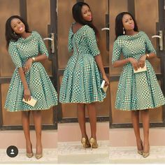 African Print Pleated Dress with Dual Neckline, African Flare Dress, African Short Dress, African Dress by MyAnkaraLove on Etsy African Dresses For Women, African Print Dresses, African Print Fashion, Africa Fashion, African Attire, African Wear, African Fashion Dresses, African Women, Fashion Prints