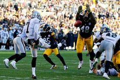 Pittsburgh Steelers linebacker Bud Dupree (48) deflects a punt by Oakland Raiders punter Marquette King (7) in an NFL football game, Sunday, Nov. 8, 2015, in Pittsburgh.