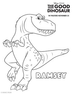 Kick Your Dino Crave Into High Gear With This Good Coloring Sheet Meet Ramsey