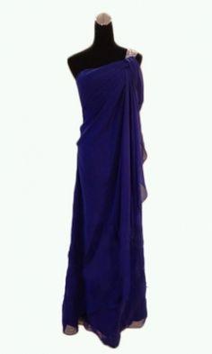 Enchanting One-Shoulder Chiffon Floor-Length Bridesmaid Dress / Prom Dresses