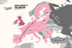 Europe according to the Brits.