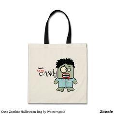 Cute Zombie Halloween Bag