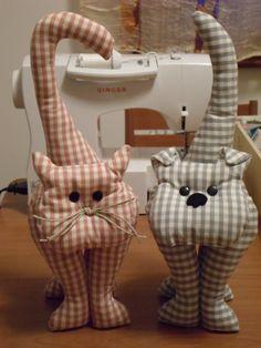 le mie creazioni cane e gatto fermaporta by Lara