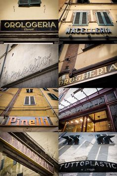 shop signs in italy - Google Search