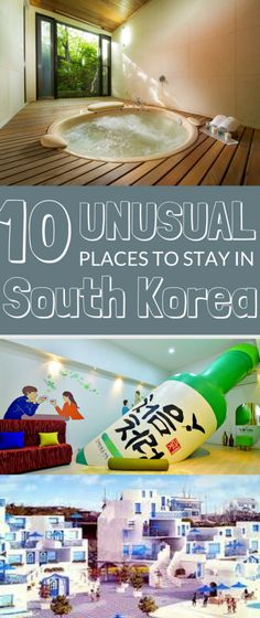 For a memorable night in Korea, check out these weird and wonderful places to stay! Want to sleep in a soju bottle, train or temple? Korea has you covered!