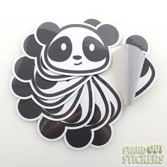 Panda Bear Custom Die Cut Vinyl Stickers