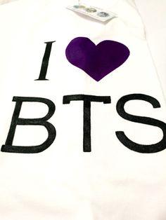 "Hand painted T-shirt "" I love BTS"" / Tricou pictat manual "" I love BTS"" I Love Bts, My Love, Hand Painted, T Shirt, Supreme T Shirt, Tee Shirt, Tee"