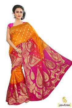 Celebrate your elegnat side by wearing this exclusive gold pink designer wedding wear banarasi silk saree online in cheap rate. One of the best Indian traditional wear embroidery designs handloom banarasi sarees online catalog collection with discount sale at pavitraa fashion online. #saree, #partywearsaree, #weddingsaree, #sari, #indianweddingsaree, #designersaree, #sareewithblouse, #sarees, #Indiansaree, #receptionsaree, #fashionsaree, #latestsaree More: Any Query: Call…