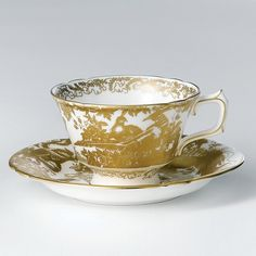 """Royal Crown Derby """"Gold Aves"""" Tea Saucer Home - Bloomingdale's Tea Cup Set, My Cup Of Tea, Tea Cup Saucer, Royal Crown Derby, Crown Royal, Antique Tea Sets, Royal Albert, A Table, Tea Party"""