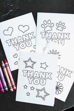 free printable thank you cards for kids to color send fun kids