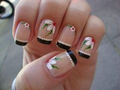Pretty Nail Designs, Nail Art Designs, Gorgeous Nails, Pretty Nails, Sunflower Nails, French Nail Art, Fancy Nails, Manicure And Pedicure, Toe Nails