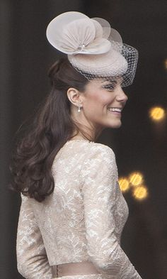 Kate's trusty pearl earrings are her go-to accessory for many of her elegant looks. She wore these triple-stone pearl drop earrings by Heavenly Necklaces on the final day of the Diamond Jubilee celebrations in 2012.
