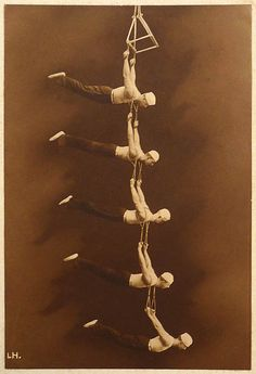 Vintage Circus Trapeze Picture