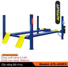 Model No.: ATL-450F4 Sức nâng max (Tấn): 4,5 Chiều cao nâng H1 (mm):  1846 Chiều cao nâng Min H2 (mm):  196 Chiều cao toàn bộ H (mm):  2230 Chiều dài toàn bộ L1 (mm):  5303 Chiều dài bàn nâng L3 (mm):             5190 Chiều rộng toàn bộ  W (mm):  3342 Chiều rộng trong lòng W1 (mm): 2742 Chiều rộng bàn nâng W2(mm):  490 Khoảng cách bàn nâng W4 (mm): 800-1100 Công suất môtơ (Kw):  2.2KW/380V http://congtybanmai.vn/cau-nang-4-tru-atl-450f4-2942682.html