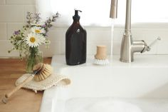 Compostable dish brushes | Refillable container for bulk dish soap