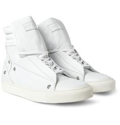 Raf Simons Leather High Top Sneakers     http://www.mrporter.com/journal/journal_issue67/4#1