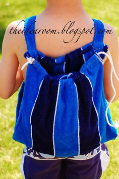 Drawstring Backpack and Matching Swim/Beach Towel Tutorial