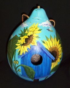 painted gourds and birdhouses - Google Search