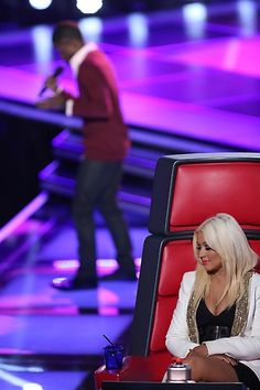 Coach Christina listens to auditions. #TheVoice