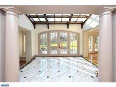 Beautiful marble floors.