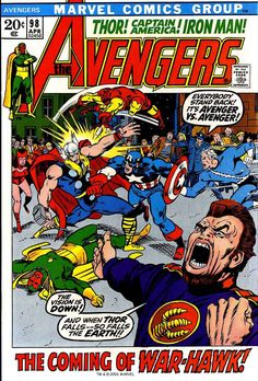 Avengers v1 #98 marvel comic book cover art by Barry Windsor Smith