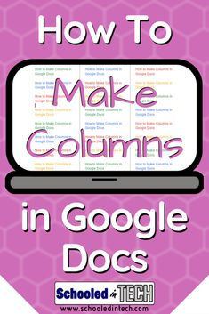 Google Docs Supports Columns and they are easy to use. Great for projects like newspapers or flyers. Here's how you use them.