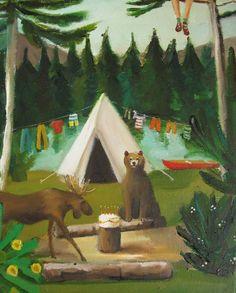 Wild Birthday. Original Oil Painting.
