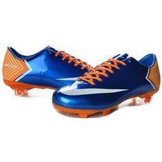 http://www.asneakers4u.com Nike Mercurial Vapor X FG Cleats   Blue Orange White