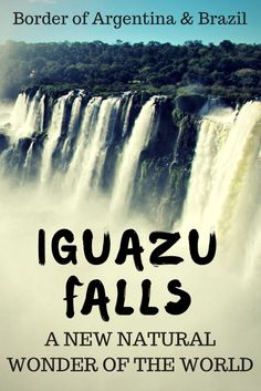 Discover Iguazu Falls on the border of Argentina and Brazil. Don't miss this off your list of. places to visit in South America. It is a must see in South America.  #southamerica #travelargentina #travelbrazil: