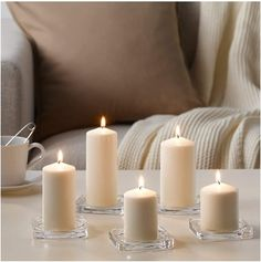 Savvy storage solutions for small spaces Ikea Candles, Buy Candles, Floating Candles, Pillar Candles, Candle Holder Set, Candle Set, Tea Light Holder, Candle Maker, Neutral