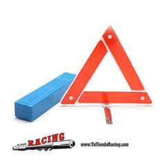 Triángulo de Señalización Reflectante Plegable Color Rojo con Funda -- 4,61€