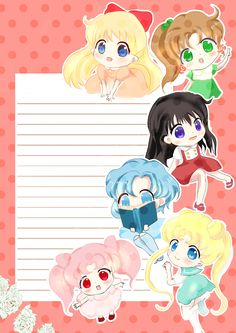 Sailor Senshi セーラームーン修正版 by syoko on pixiv ... I want this stationary!!