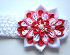 Diadema de flores kanzashi por LenaLy en Etsy