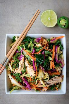 linda wagner, healthy lunch, 5 minute spicy asian chicken salad,