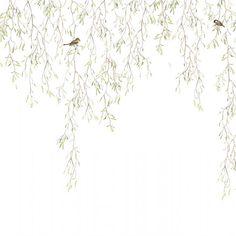 Spring birds, wallpaper mural designed by Mr Perswall. Chinoiserie Wallpaper, Bird Wallpaper, Home Wallpaper, Pattern Wallpaper, Spring Birds, Bedroom Wall Colors, Design Studio, Little Girl Rooms, Designer Wallpaper