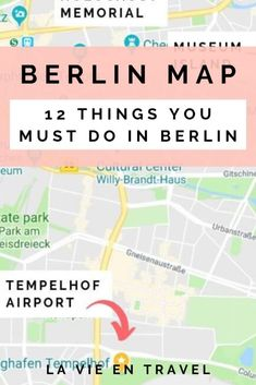 Berlin Attractions Map - Plan your Berlin trip with these amazing things to do in Berlin and add them to your Berlin itinerary! Don't forget any of these places when you're thinking of what to do in Berlin! Cities In Germany, Visit Germany, Germany Travel, Berlin Berlin, Berlin Germany, Munich, Willy Brandt Haus, Travel Tips For Europe, Travel Plan