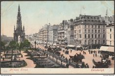 Old Photos of the Streets of Edinburgh (Page in Edinburghshire / Midlothian in Scotland, United Kingdom of Great Britain Postcards For Sale, Kingdom Of Great Britain, Vintage Photography, Old Photos, Big Ben, Places Ive Been, Paris Skyline, Scotland, Prince
