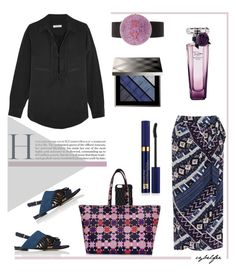 """""""Patchwork"""" by cybelfee ❤ liked on Polyvore featuring Dagmar, Emilio Pucci, Warehouse, 3.1 Phillip Lim, Equipment, Christian Koban, Lancôme, Burberry, Estée Lauder and polyvoreeditorial"""