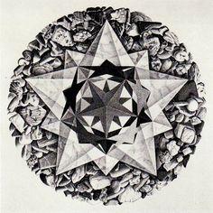 Mc Escher Art, Escher Kunst, Art And Illustration, Famous Art, Border Design, Old Art, Types Of Art, Optical Illusions, Sacred Geometry