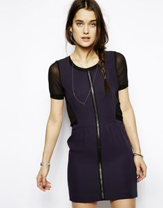 The Kooples Sport Dress with Leather Panel to Front