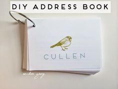 ember grey.: DIY: Address Book (+ Giveaway!)