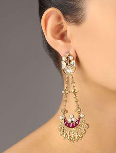 Plum Meenakari Earrings
