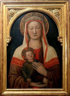 Madonna Art, Madonna And Child, Religious Images, Religious Art, Italian Renaissance, Renaissance Art, Renaissance Portraits, Images Of Mary, Religious Paintings