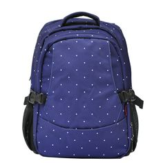 Damero Travel Backpack Diaper Bag (Blue with dots)