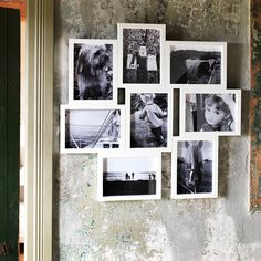 A frame cluster filled with memories is a great way to bring life to a wall.