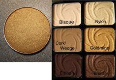 MAC Goldmine  Wet n Wild Vanity palette (plus other MAC dupes)