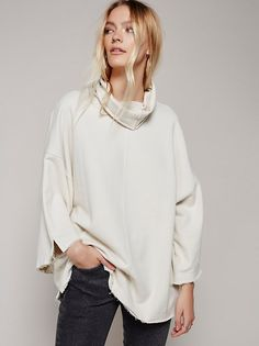 FP Marley Girl Pullover Knit Turtleneck Tunic (Antique)