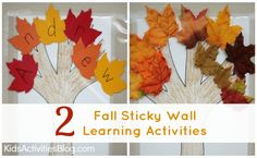 Fall Sticky Wall Learning Activities