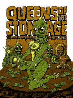 "Queens of the Stone Age in Portland, OR. A four color screen print on 100 lb acid free paper stock measuring 18""x 24"". Signed and numbered in a very limited edition of only 75 prints. $40"