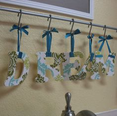 Damask Wall Letters - DREAM
